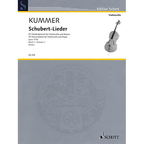 Schott Schubert-Lieder Op. 117b (25 Transcriptions for Cello and Piano - Volume 1) String Series Softcover thumbnail