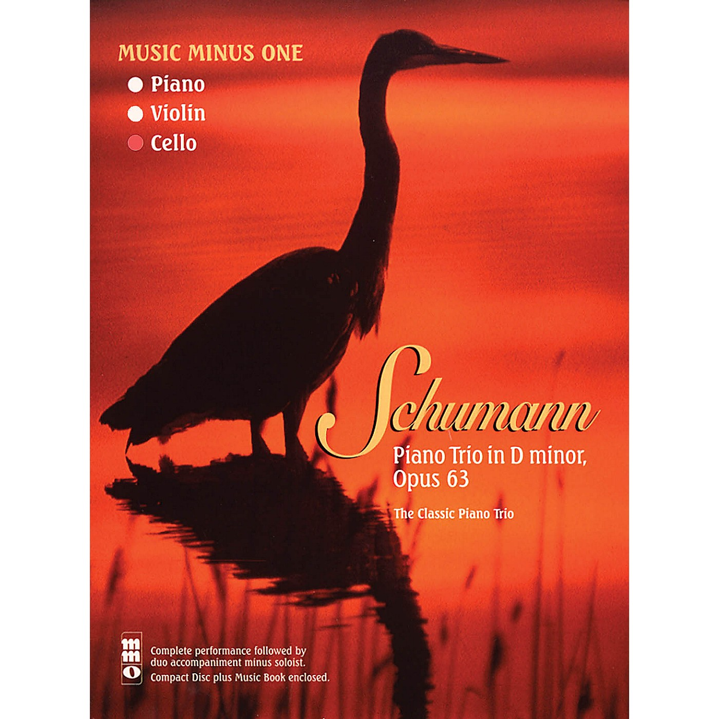 Music Minus One Schumann - Piano Trio No. 1 in D minor, Op. 63 Music Minus One Softcover with CD by Robert Schumann thumbnail