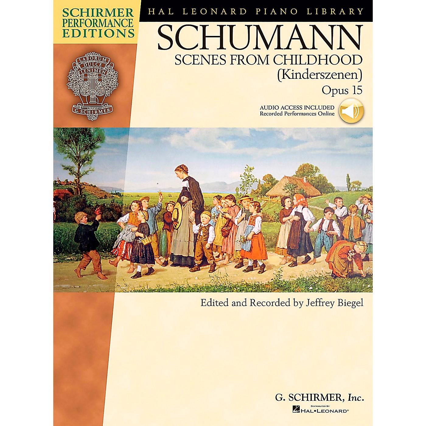 G. Schirmer Schumann: Scenes From Childhood Kinderscenen Op 15 Book/CD Schirmer Performance Edition By Schumann / Biegel thumbnail
