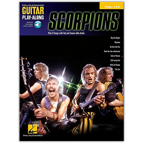 Hal Leonard Scorpions - Guitar Play-Along Vol. 174 Book/Online Audio thumbnail