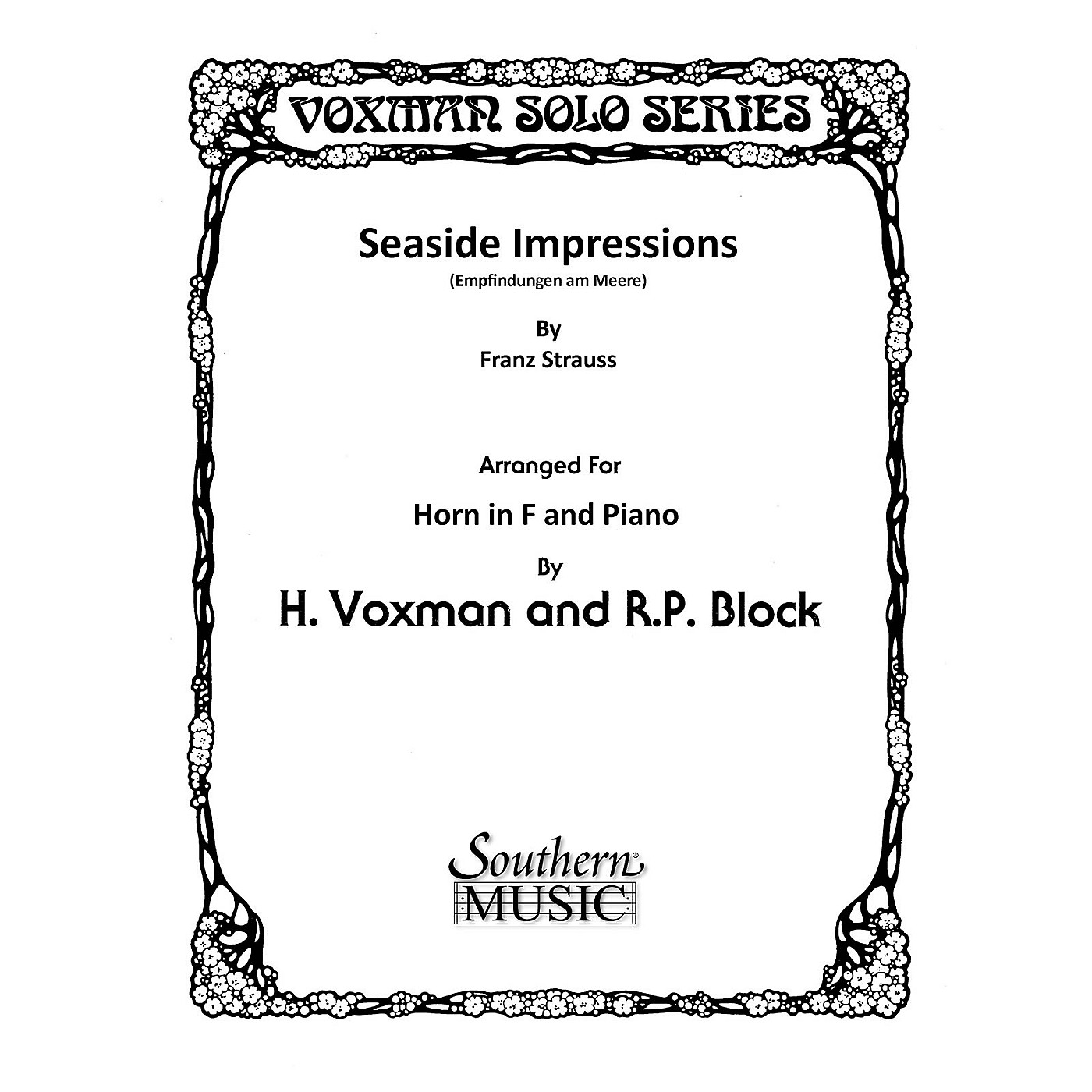 Southern Seaside Impressions (Horn) Southern Music Series Arranged by Himie Voxman thumbnail