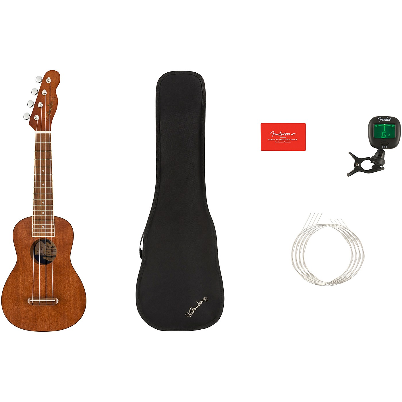 Fender Seaside Soprano Ukulele V2 Walnut Fingerboard thumbnail