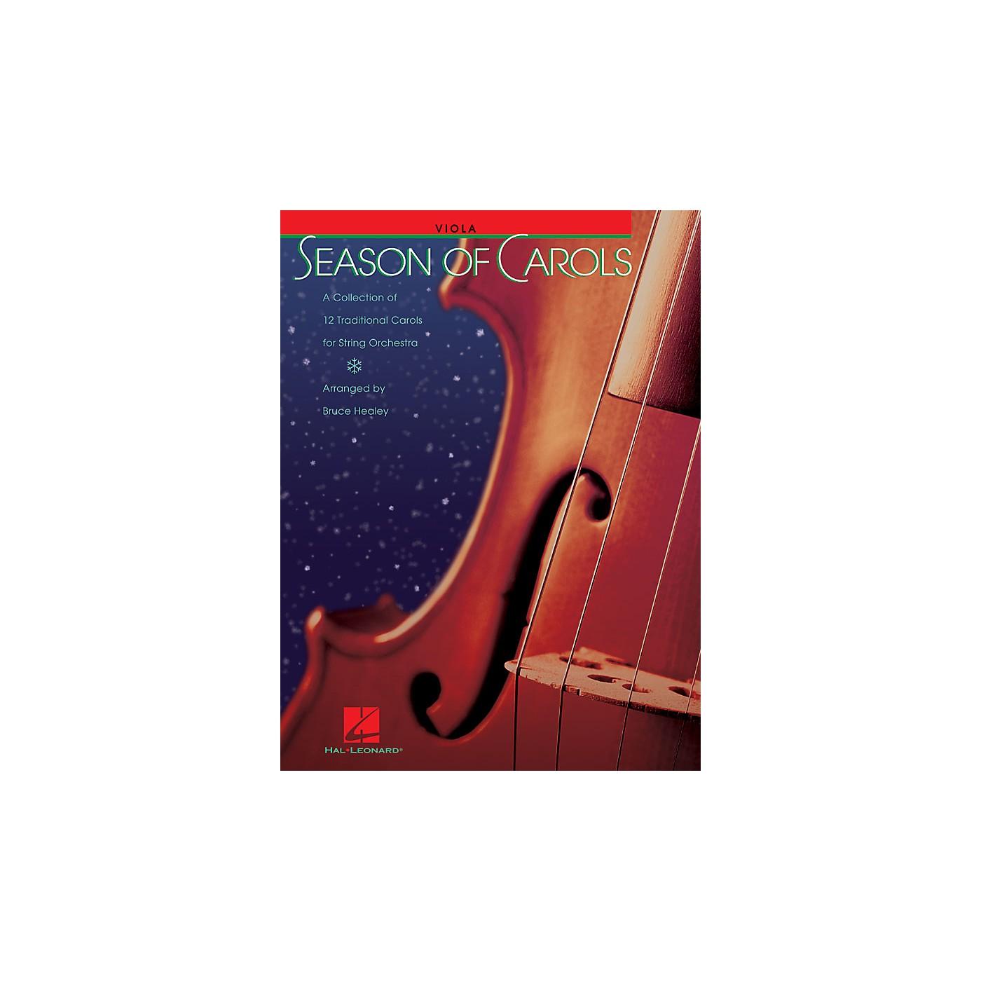 Hal Leonard Season of Carols (String Orchestra - Viola) Music for String Orchestra Series Arranged by Bruce Healey thumbnail