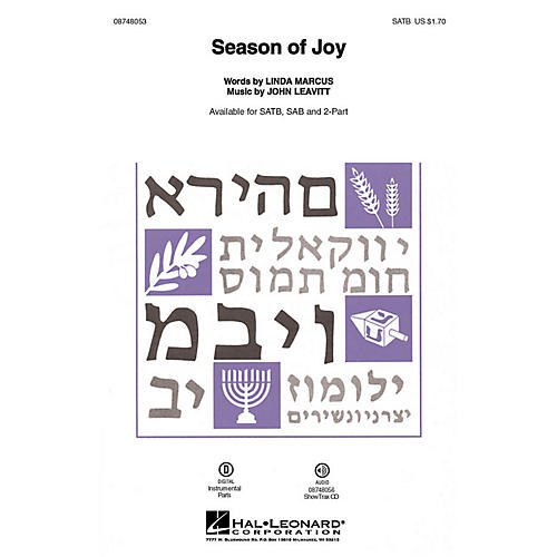 Hal Leonard Season of Joy ShowTrax CD Composed by John Leavitt thumbnail