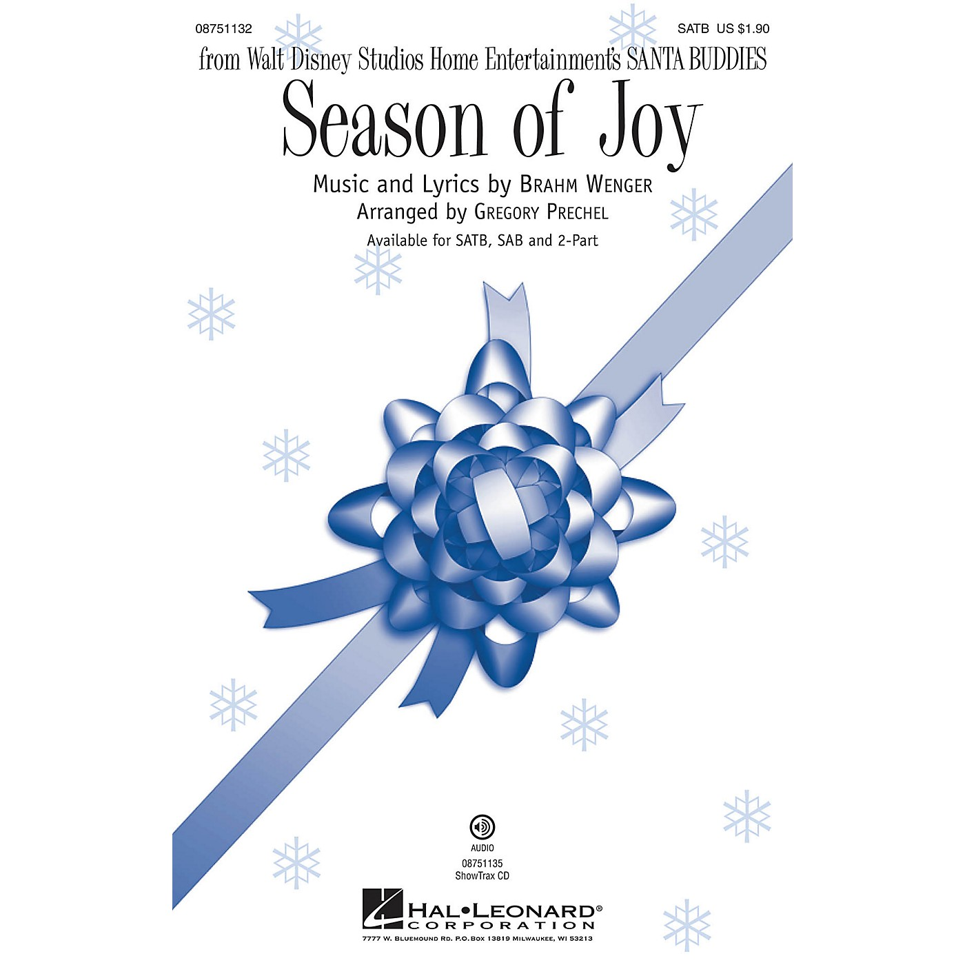 Hal Leonard Season of Joy (from Disney's Santa Buddies) SATB arranged by Gregory Prechel thumbnail