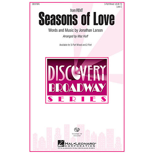 Hal Leonard Seasons of Love (from Rent) 3-Part Mixed arranged by Mac Huff thumbnail