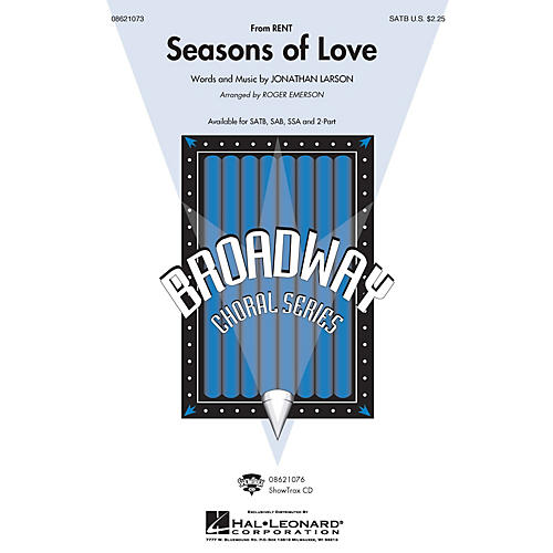 Hal Leonard Seasons of Love (from Rent) (SATB) SATB arranged by Roger Emerson thumbnail