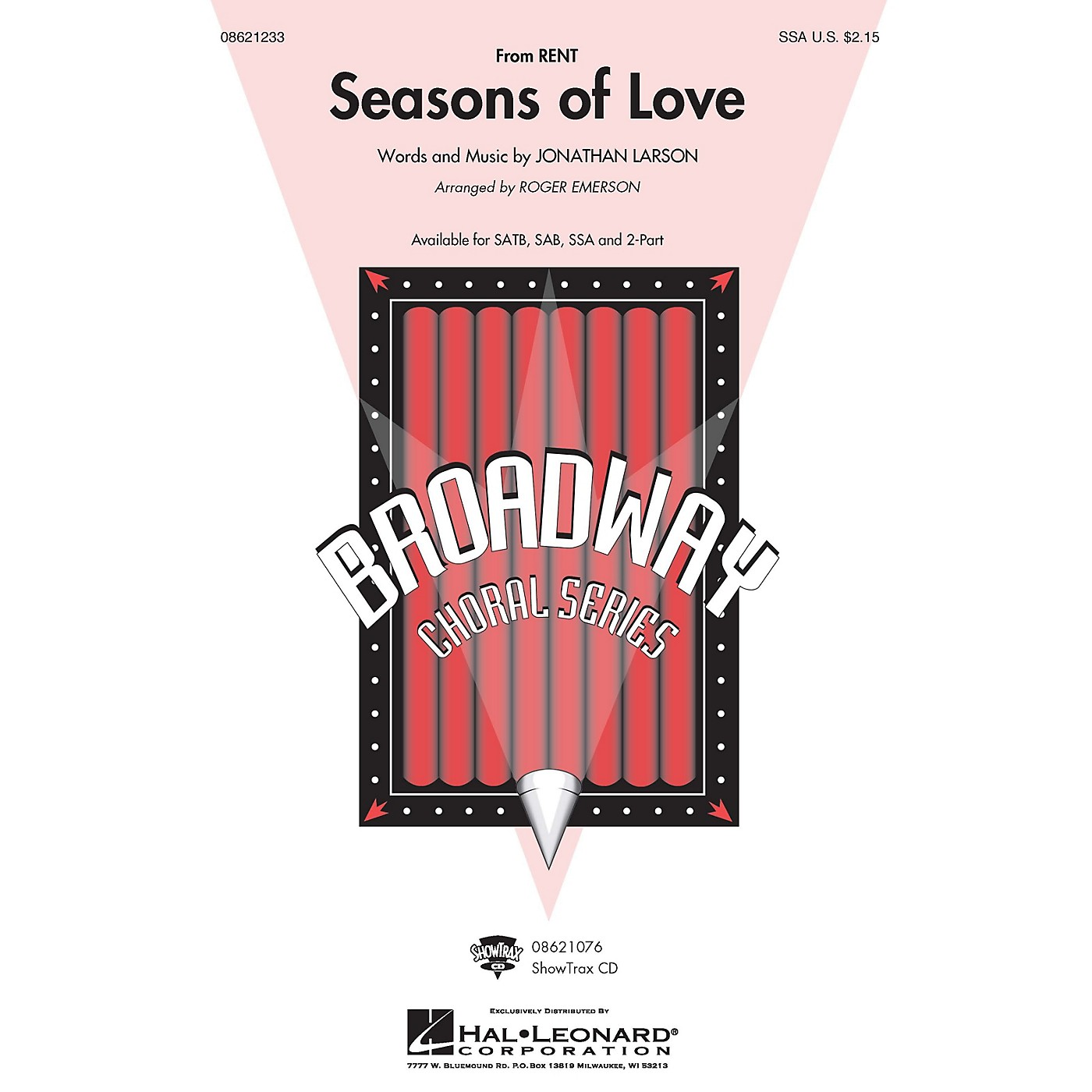 Hal Leonard Seasons of Love (from Rent) (SSA) SSA arranged by Roger Emerson thumbnail
