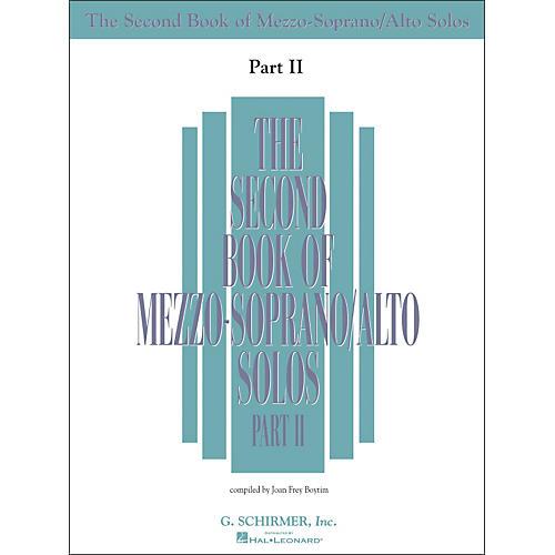 G. Schirmer Second Book Of Mezzo-Soprano / Alto Solos Part 2 Book Only thumbnail