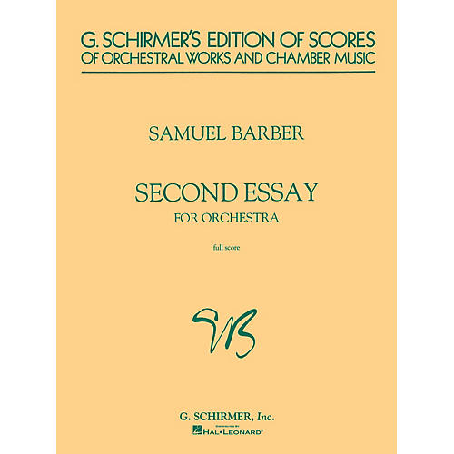 G. Schirmer Second Essay for Orchestra (Study Score) Study Score Series Composed by Samuel Barber thumbnail