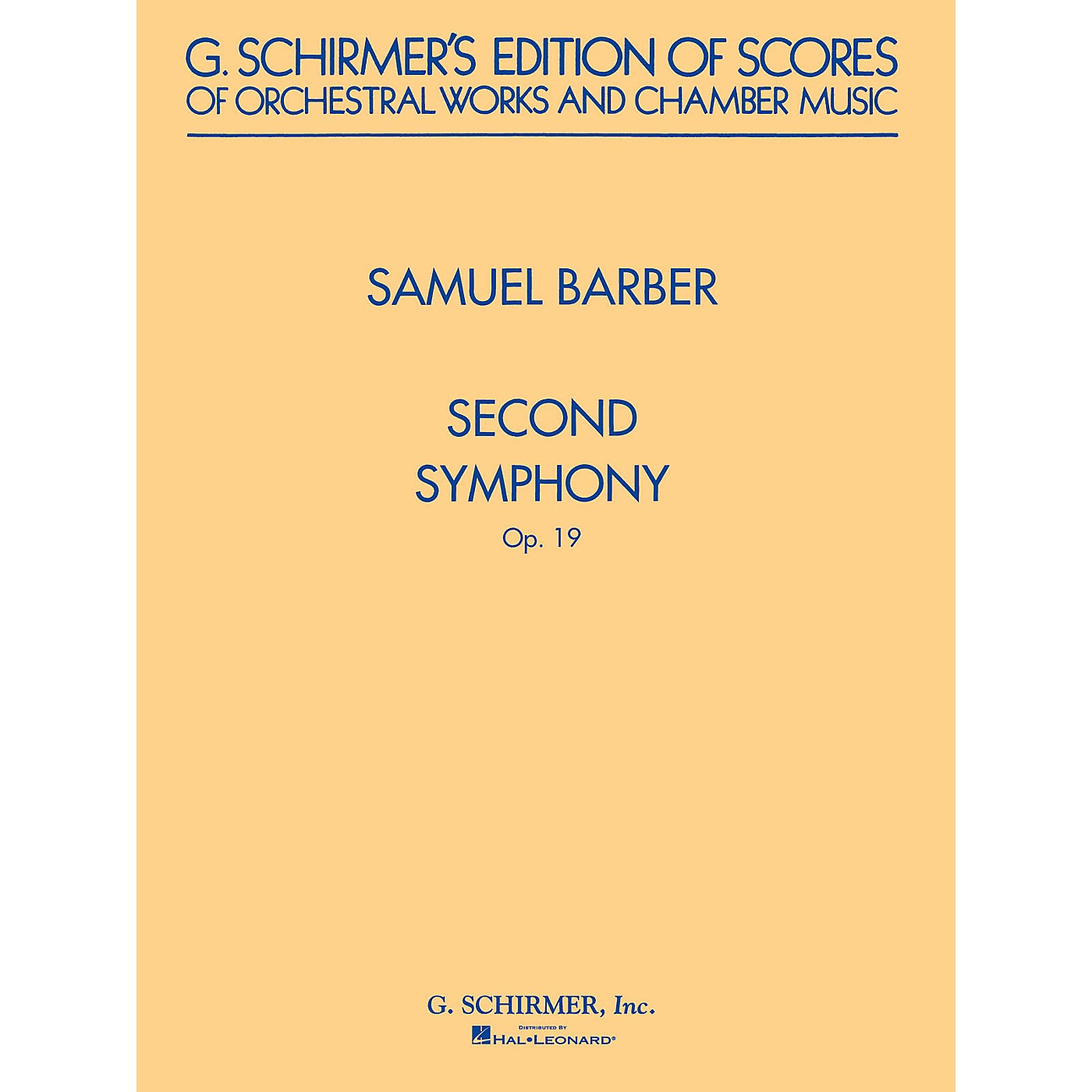 G. Schirmer Second Symphony, Op. 19 (Study Score) Study Score Series Composed by Samuel Barber thumbnail