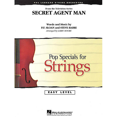 Hal Leonard Secret Agent Man Easy Pop Specials For Strings Series Softcover Arranged by Larry Moore thumbnail