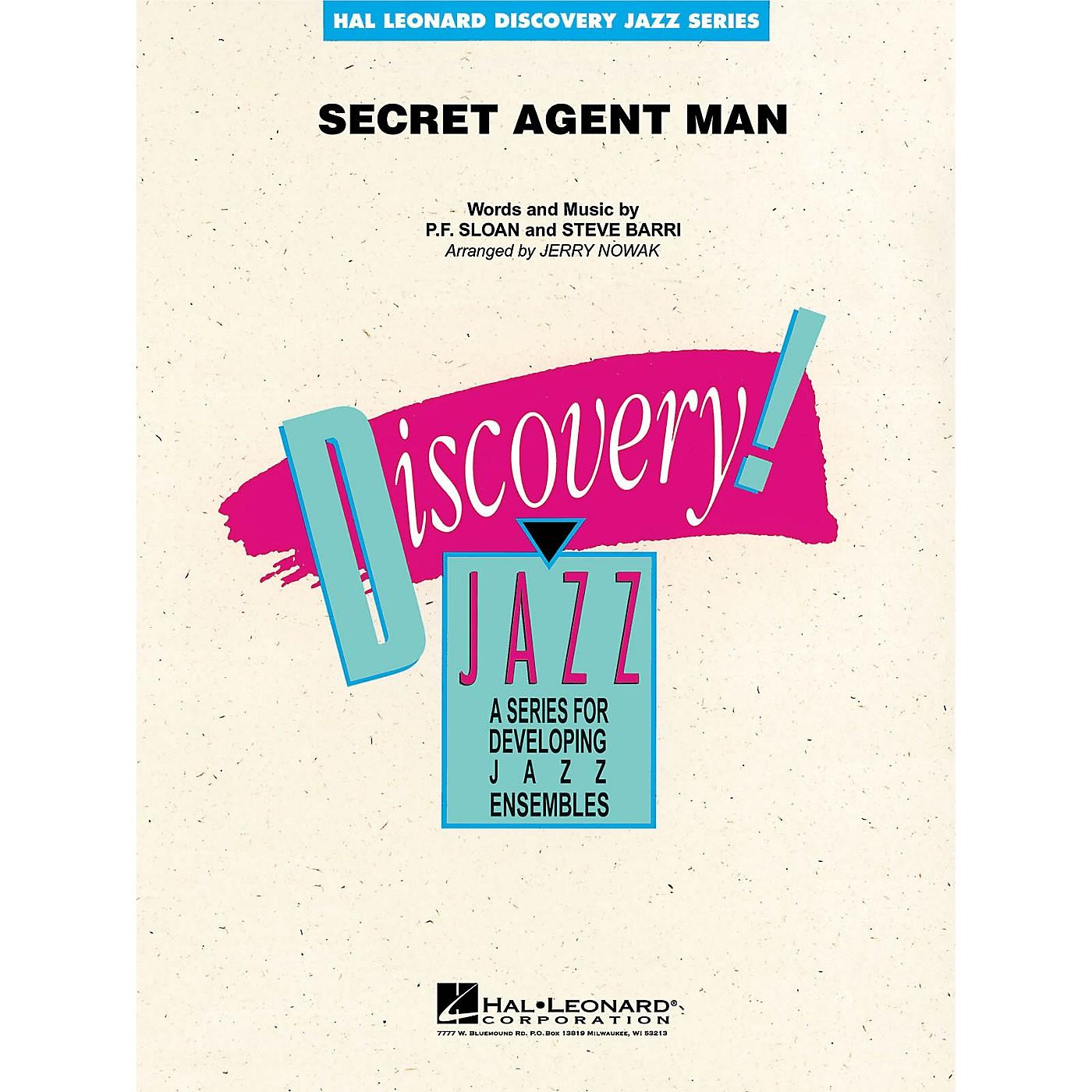 Hal Leonard Secret Agent Man Jazz Band Level 1-2 Arranged by Jerry Nowak thumbnail