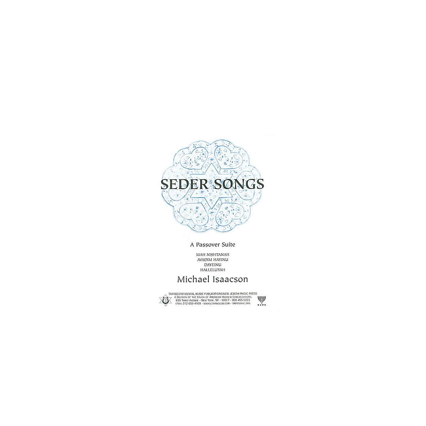 Transcontinental Music Seder Songs SATB arranged by Michael Isaacson thumbnail
