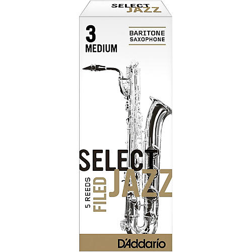 D'Addario Woodwinds Select Jazz Filed Baritone Saxophone Reeds thumbnail