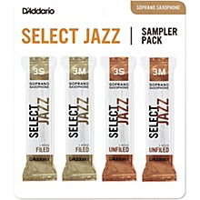 D'Addario Woodwinds Select Jazz Soprano Saxophone Reed Sampler Pack