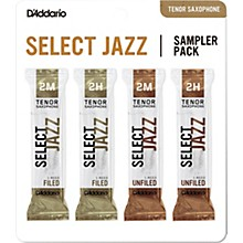 D'Addario Woodwinds Select Jazz Tenor Saxophone Reed Sampler Pack