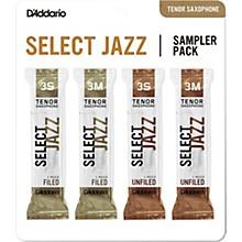 D'Addario Woodwinds Select Jazz Tenor Saxophone Reed Sampler Pack