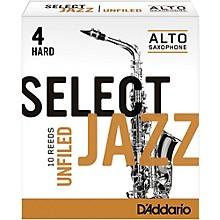 D'Addario Woodwinds Select Jazz Unfiled Alto Saxophone Reeds