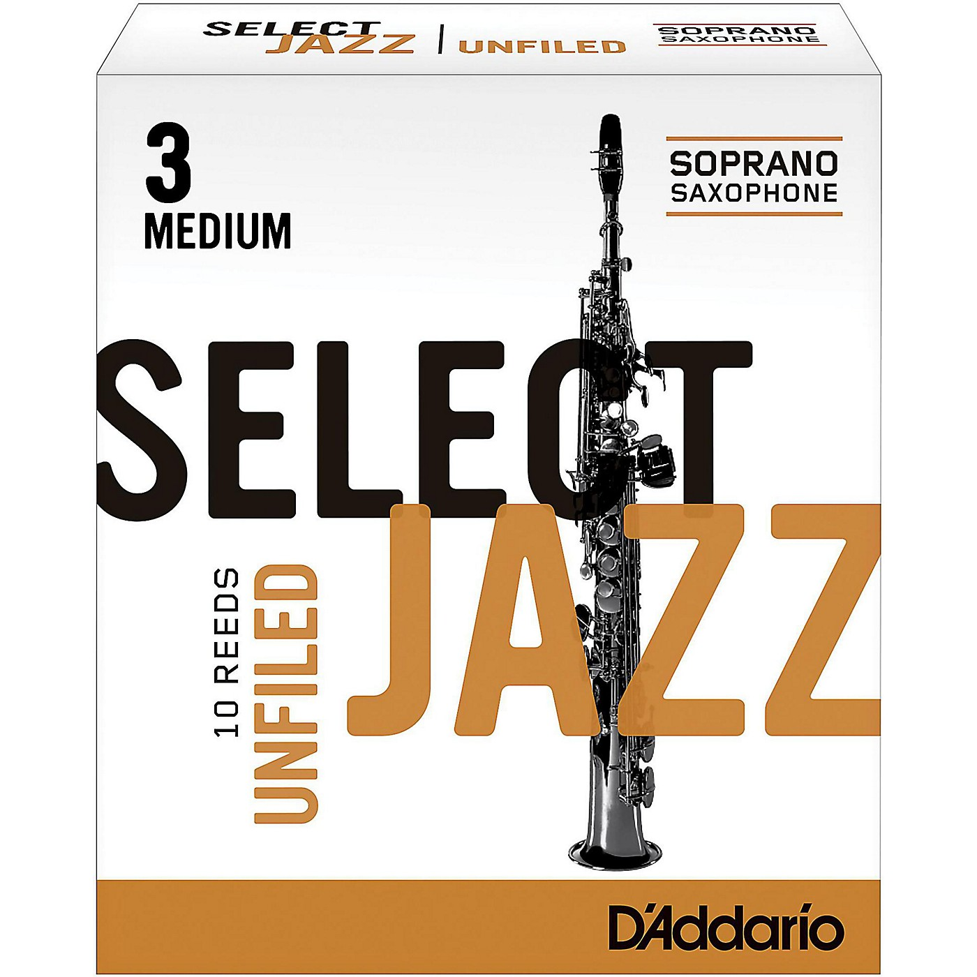 D'Addario Woodwinds Select Jazz Unfiled Soprano Saxophone Reeds thumbnail