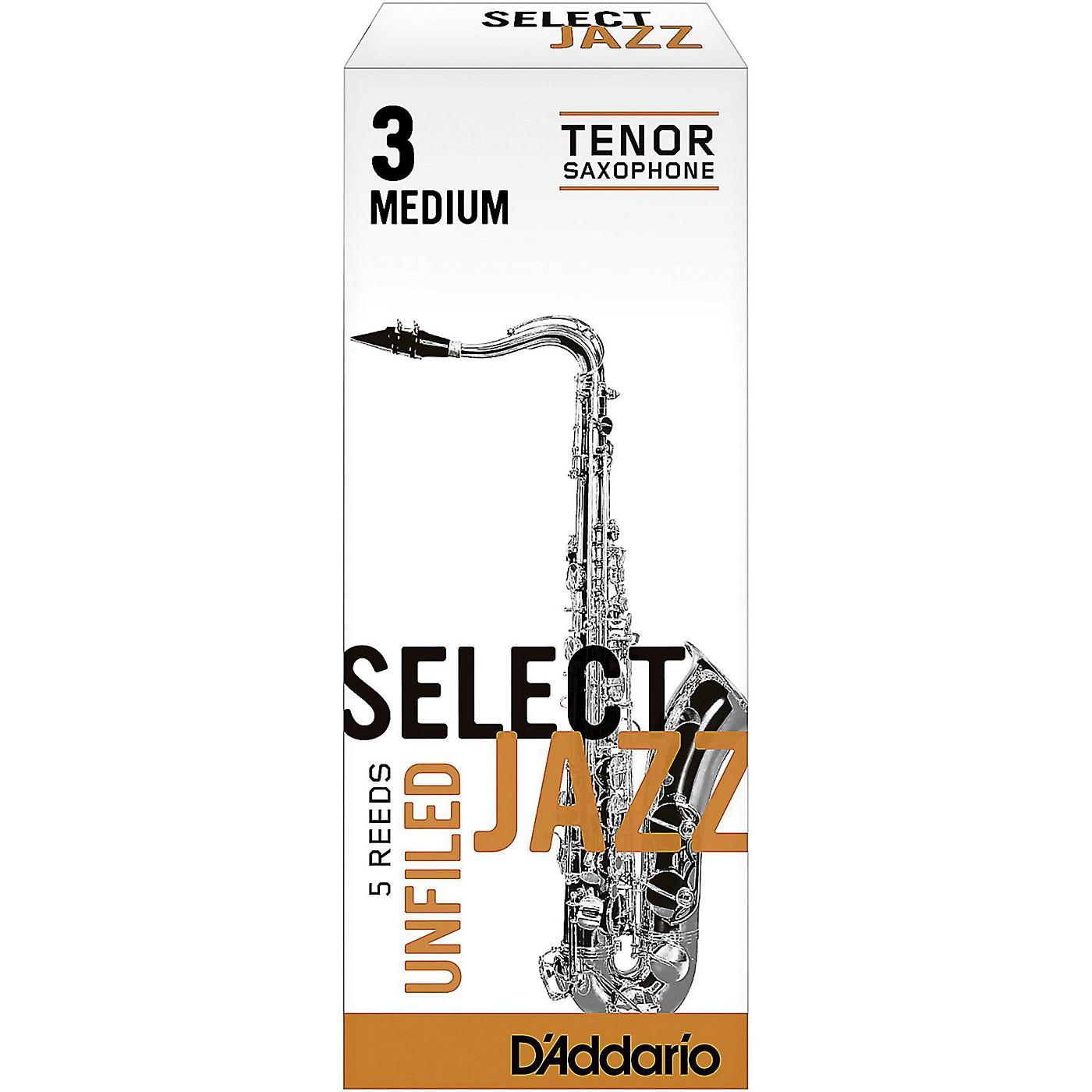D'Addario Woodwinds Select Jazz Unfiled Tenor Saxophone Reeds thumbnail