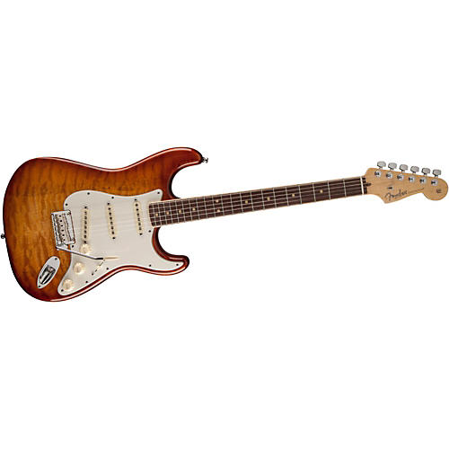 Fender Select Stratocaster Exotic Quilt Maple Top Electric Guitar thumbnail