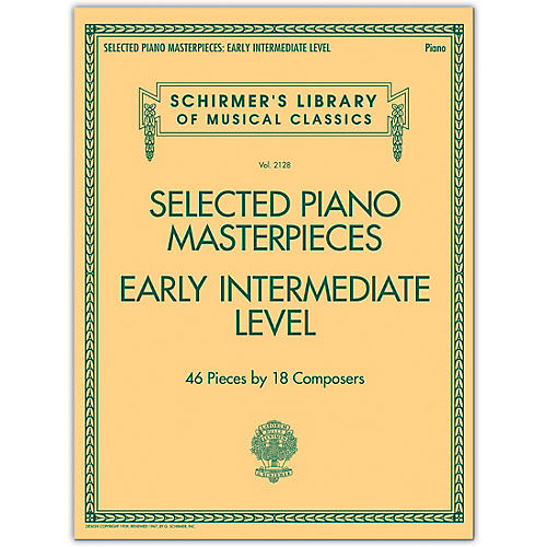 G. Schirmer Selected Piano Masterpieces - Early Intermediate Level Piano Collection Series Softcover thumbnail