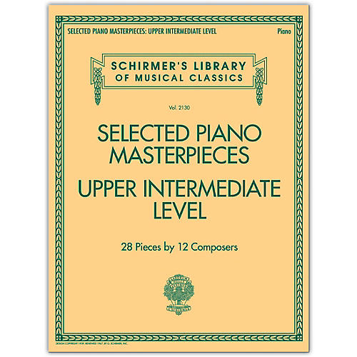 G. Schirmer Selected Piano Masterpieces - Upper Intermediate Level Piano Collection Series Softcover thumbnail
