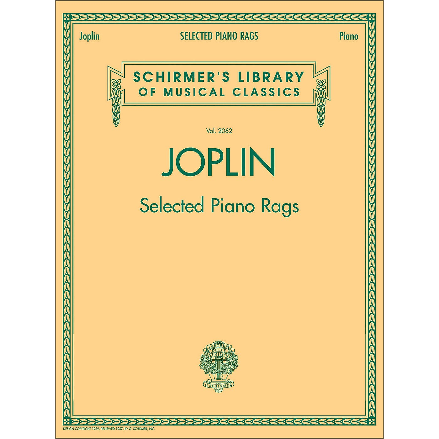 G. Schirmer Selected Piano Rags By Joplin thumbnail