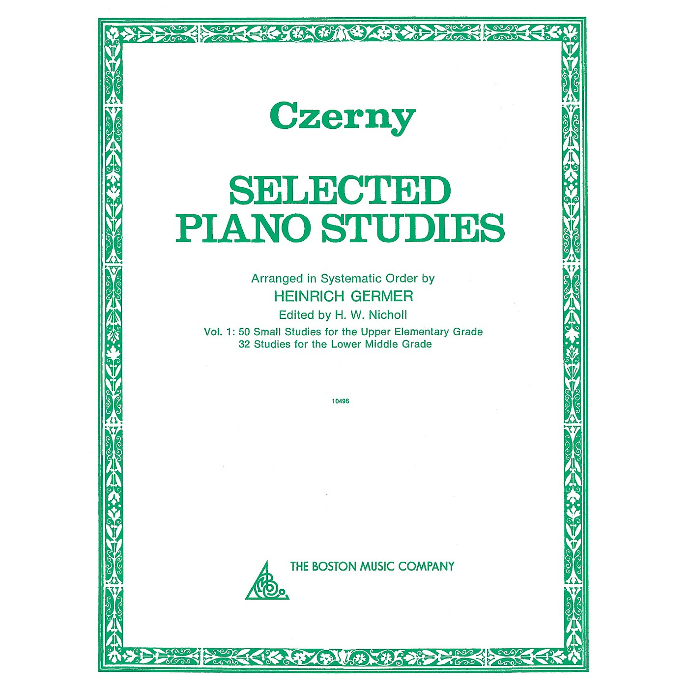 Boston Music Selected Piano Studies - Volume 1 Music Sales America Series Softcover thumbnail