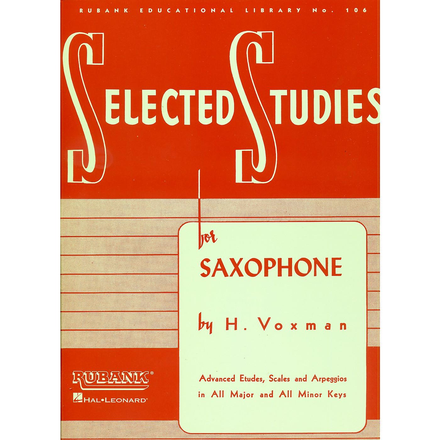 Hal Leonard Selected Studies For Saxophone thumbnail