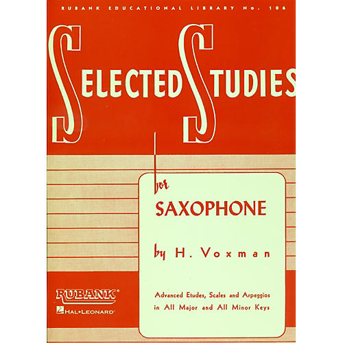 Hal Leonard Selected Studies For Saxophone thumbnail