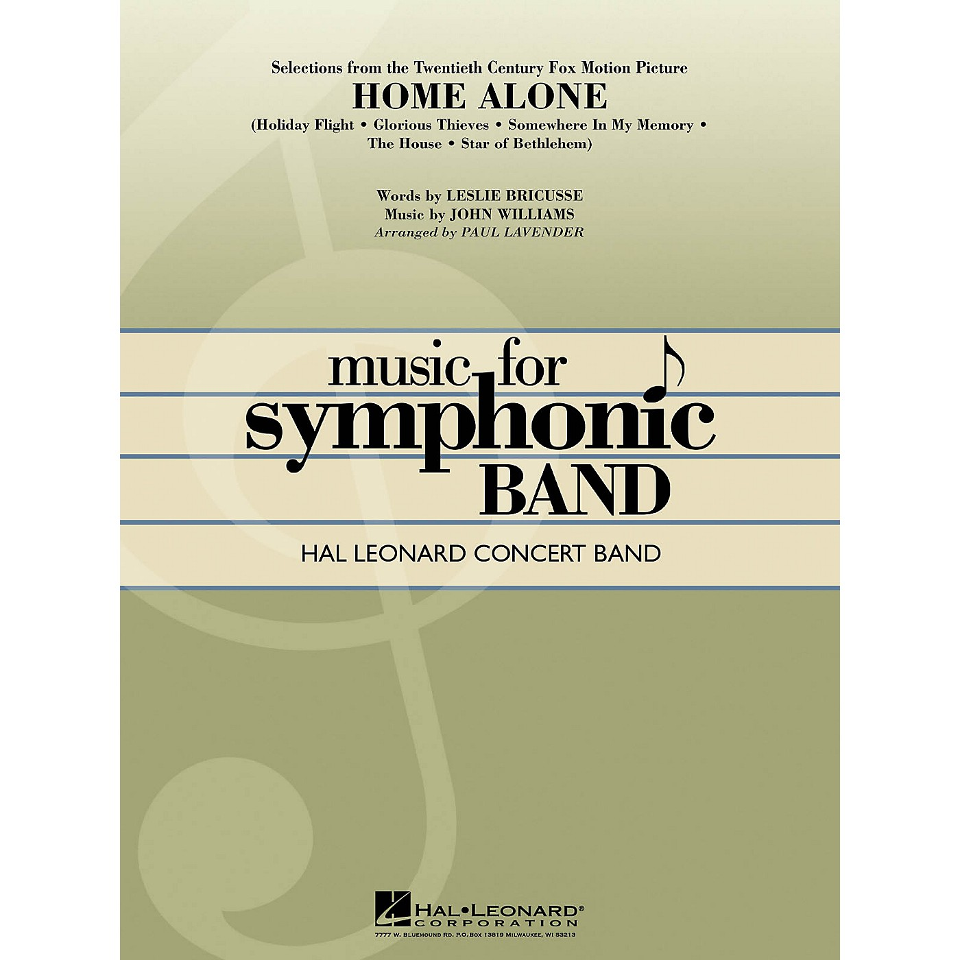 Hal Leonard Selections from Home Alone Concert Band Level 4 Arranged by Paul Lavender thumbnail