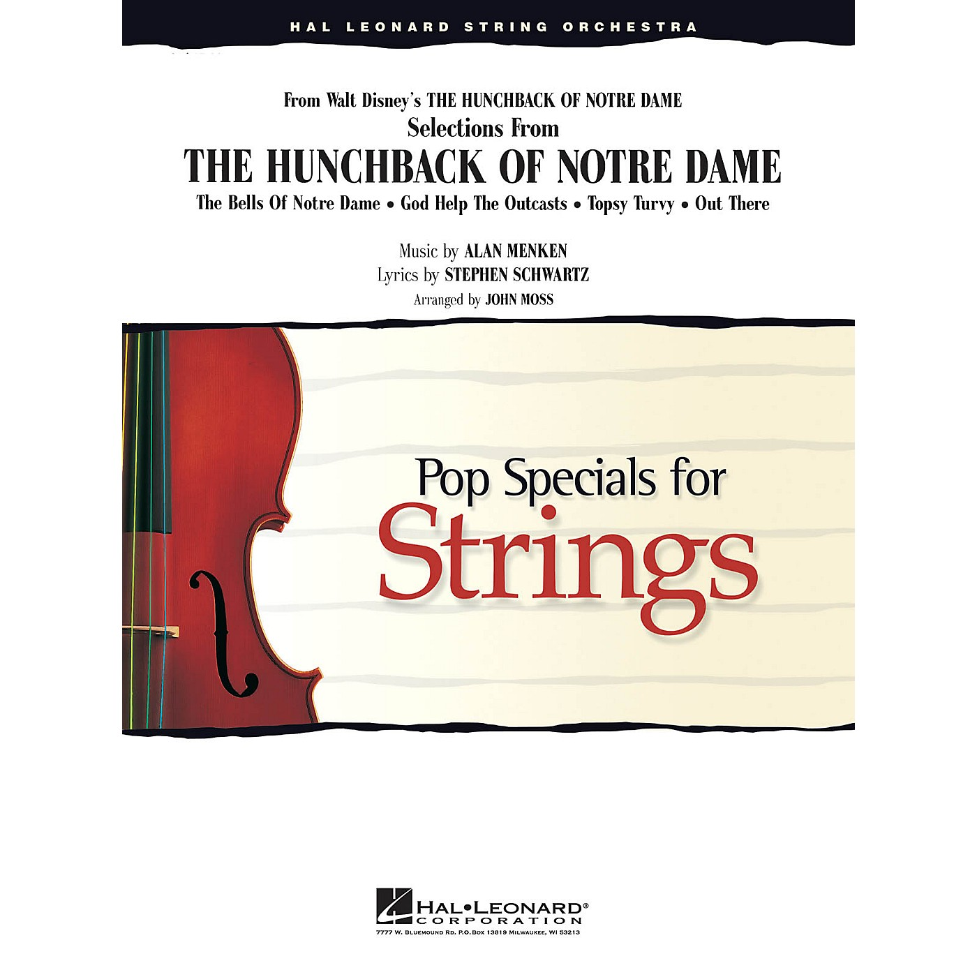 Hal Leonard Selections from The Hunchback of Notre Dame Pop Specials for Strings Series Arranged by John Moss thumbnail