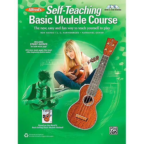 Alfred Self-Teaching Basic Ukulele Course Book, CD & DVD thumbnail