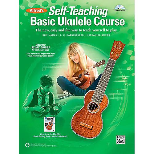 Alfred Self-Teaching Basic Ukulele Course Book & CD thumbnail