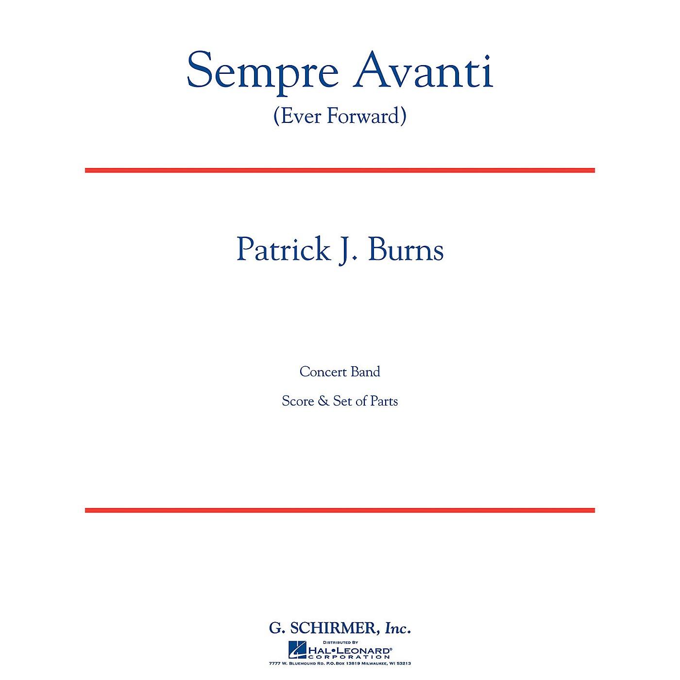 G. Schirmer Sempre Avanti Concert Band Level 4 Composed by Patrick Burns thumbnail