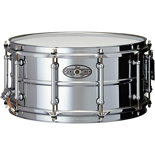 Pearl Sensitone Beaded Steel Snare Drum thumbnail