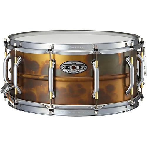 Pearl Sensitone Premium Beaded Patina Brass Snare Drum thumbnail