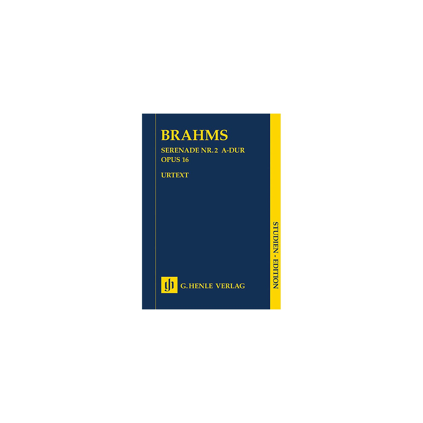 G. Henle Verlag Serenade No. 2 in A Major, Op. 16 Henle Study Scores by Johannes Brahms Edited by Michael Musgrave thumbnail