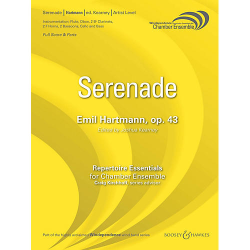 Boosey and Hawkes Serenade, Op. 43 (Score Only) Concert Band Level 5 Composed by Emil Hartmann thumbnail