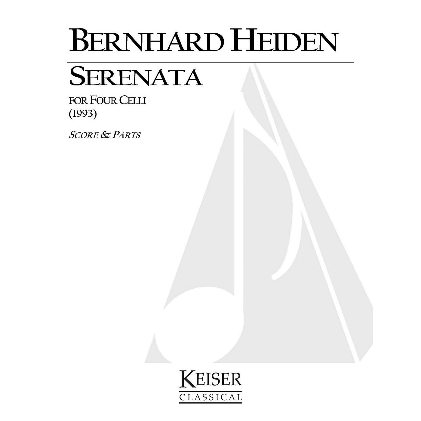 Lauren Keiser Music Publishing Serenata for Four Celli LKM Music Series Composed by Bernhard Heiden thumbnail