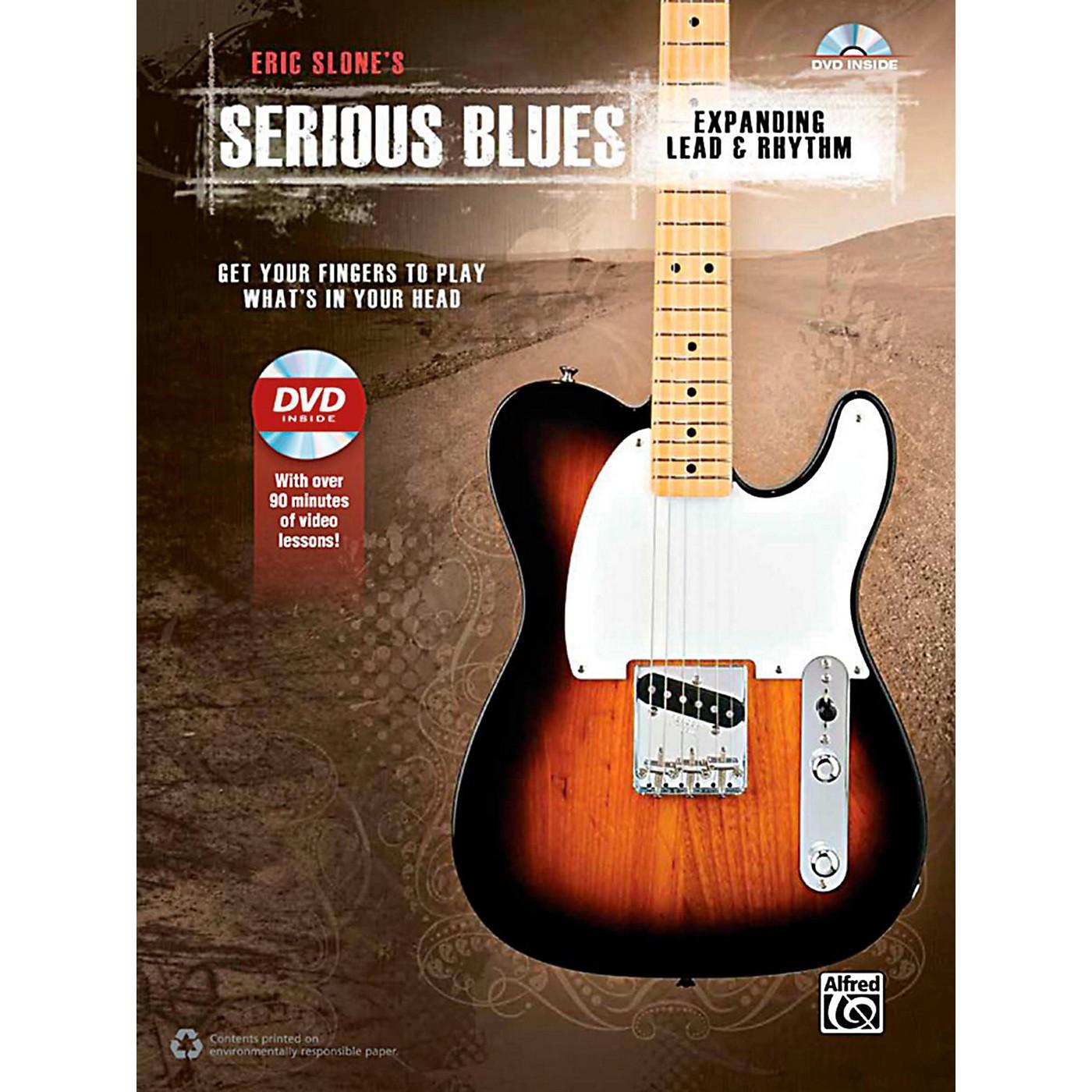 Alfred Serious Blues Expanding Lead & Rhythm Book & DVD thumbnail