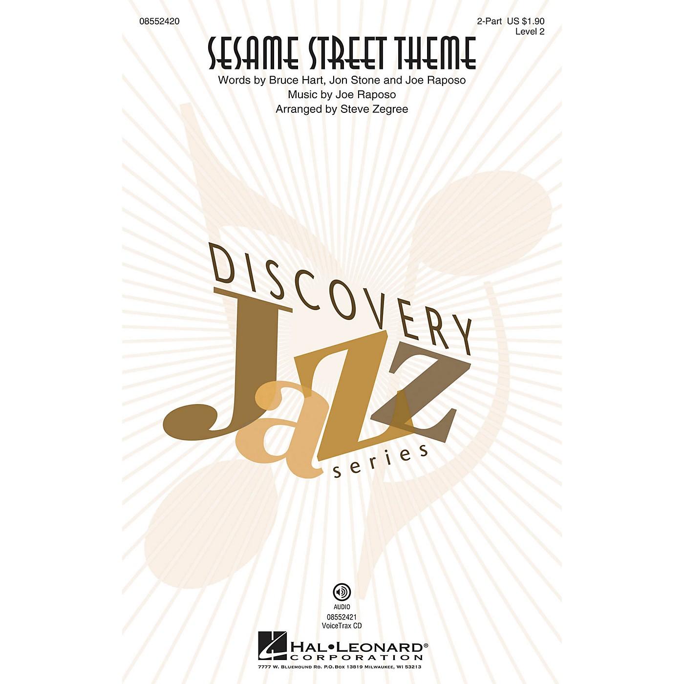 Hal Leonard Sesame Street Theme (Discovery Level 2) VoiceTrax CD Arranged by Steve Zegree thumbnail