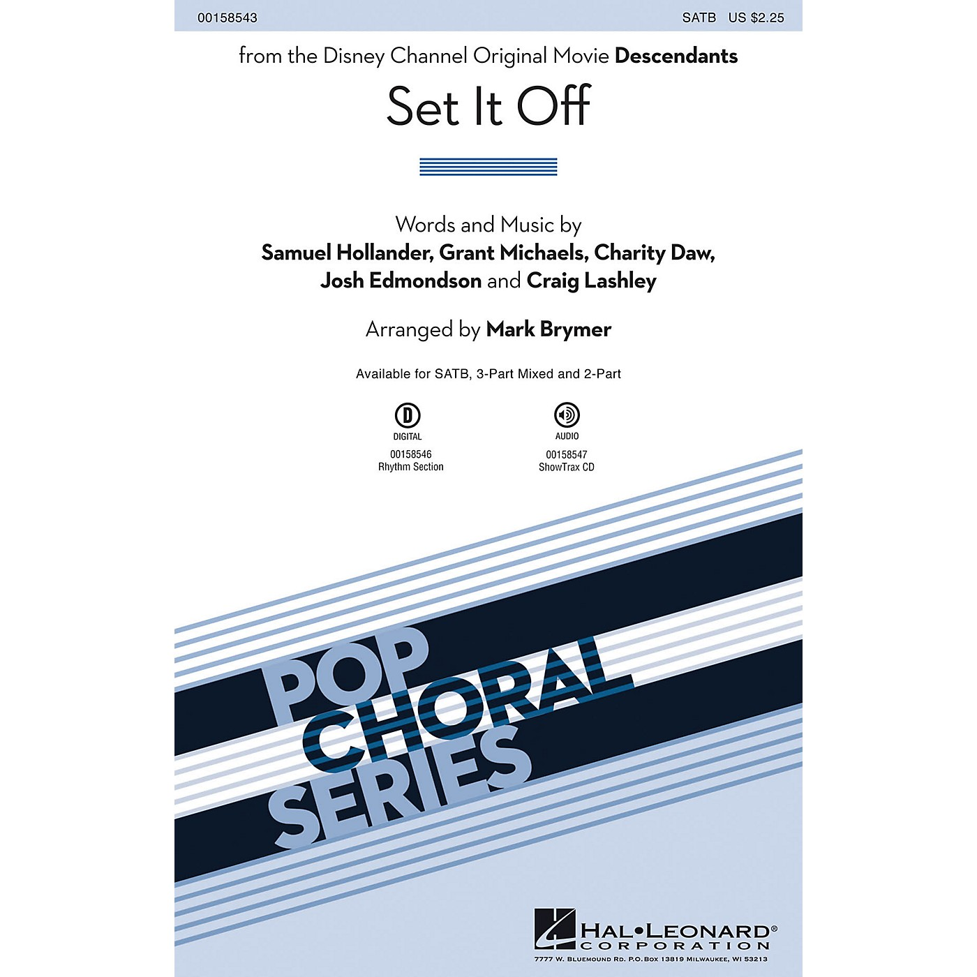 Hal Leonard Set It Off (from the Disney Channel Original Movie Descendants) ShowTrax CD Arranged by Mark Brymer thumbnail