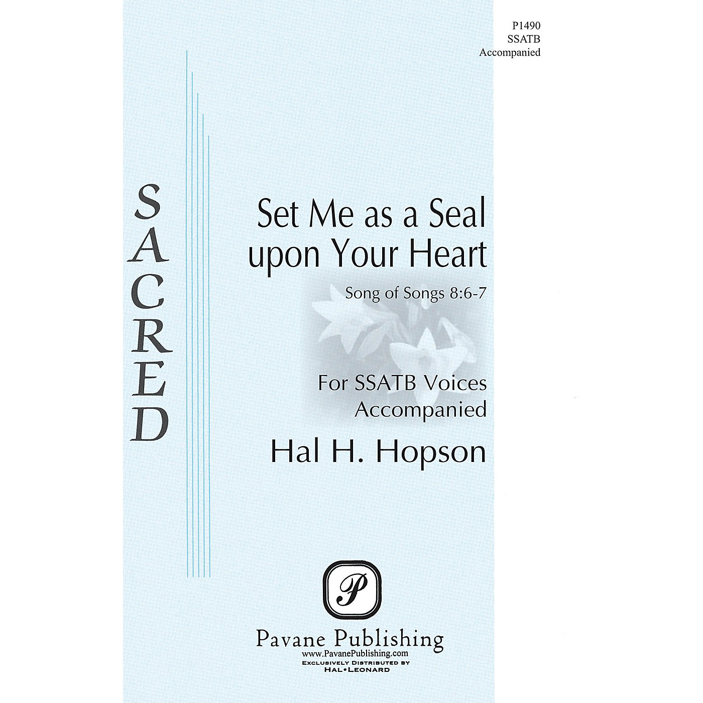 Pavane Set Me as a Seal upon Your Heart SSATB composed by Hal H. Hopson thumbnail