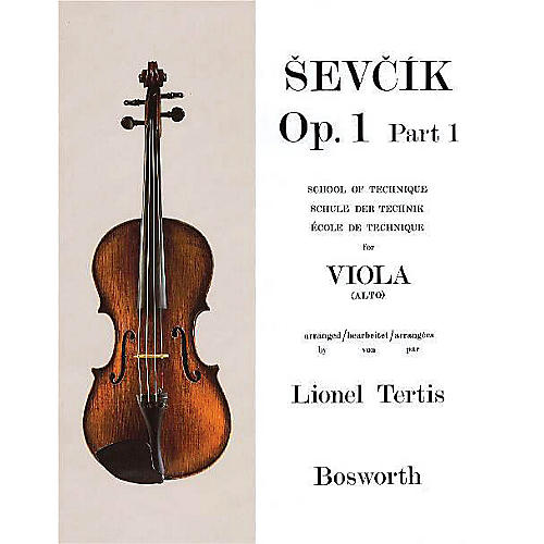 Bosworth Sevcik for Viola - Opus 1, Part 1 (School of Technique) Music Sales America Series by Otakar Sevcik thumbnail