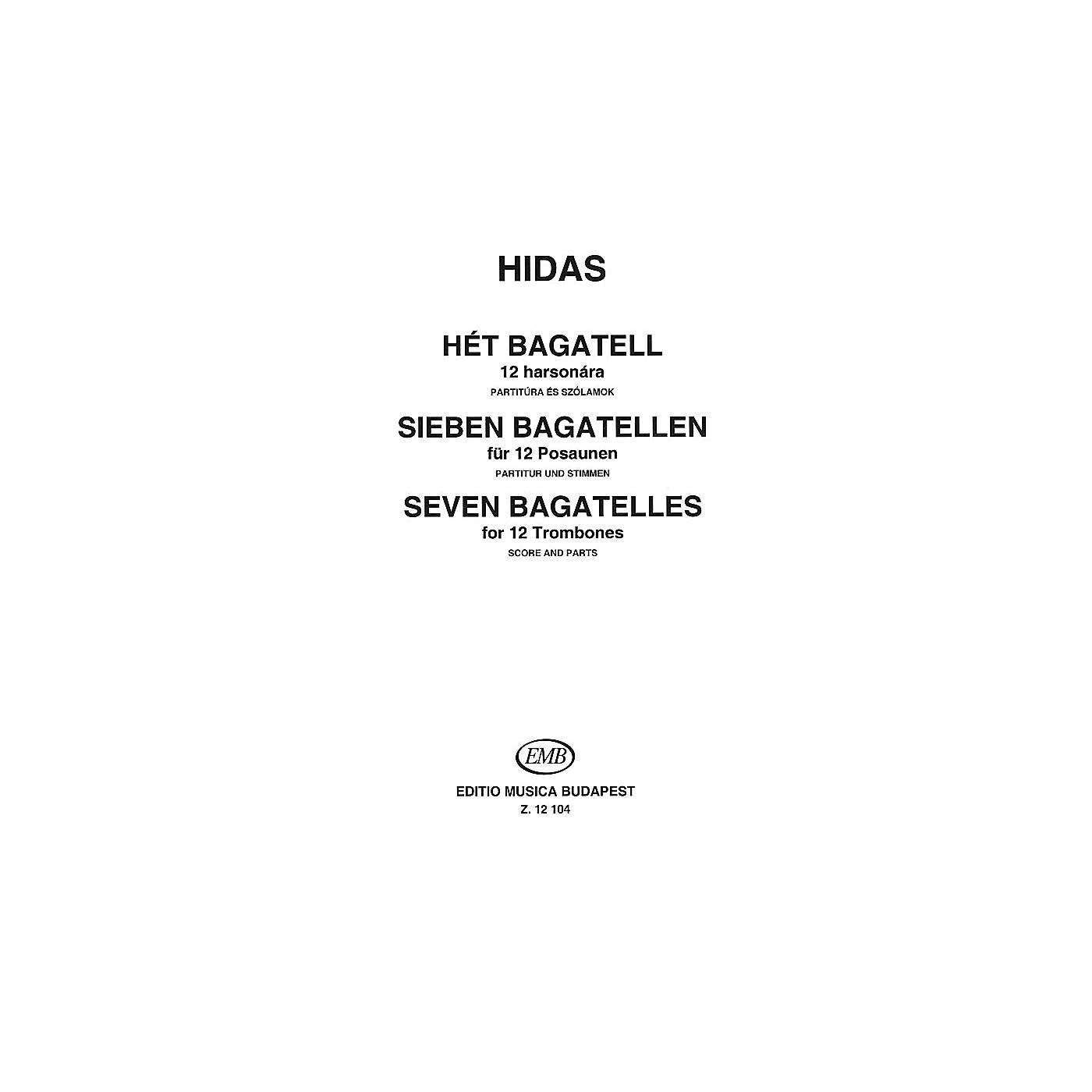 Editio Musica Budapest Seven Bagatelles for 12 Trombones EMB Series by Frigyes Hidas thumbnail