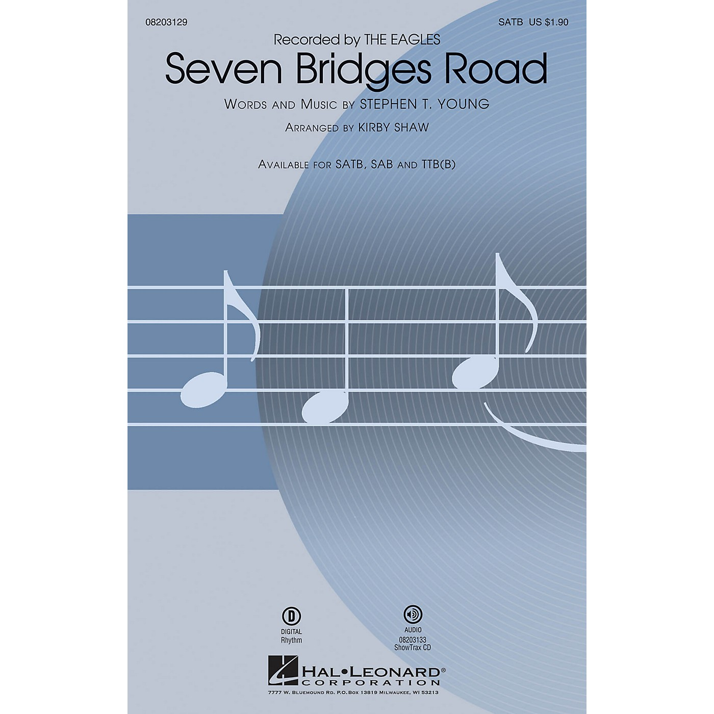 Hal Leonard Seven Bridges Road SATB by Eagles arranged by Kirby Shaw thumbnail
