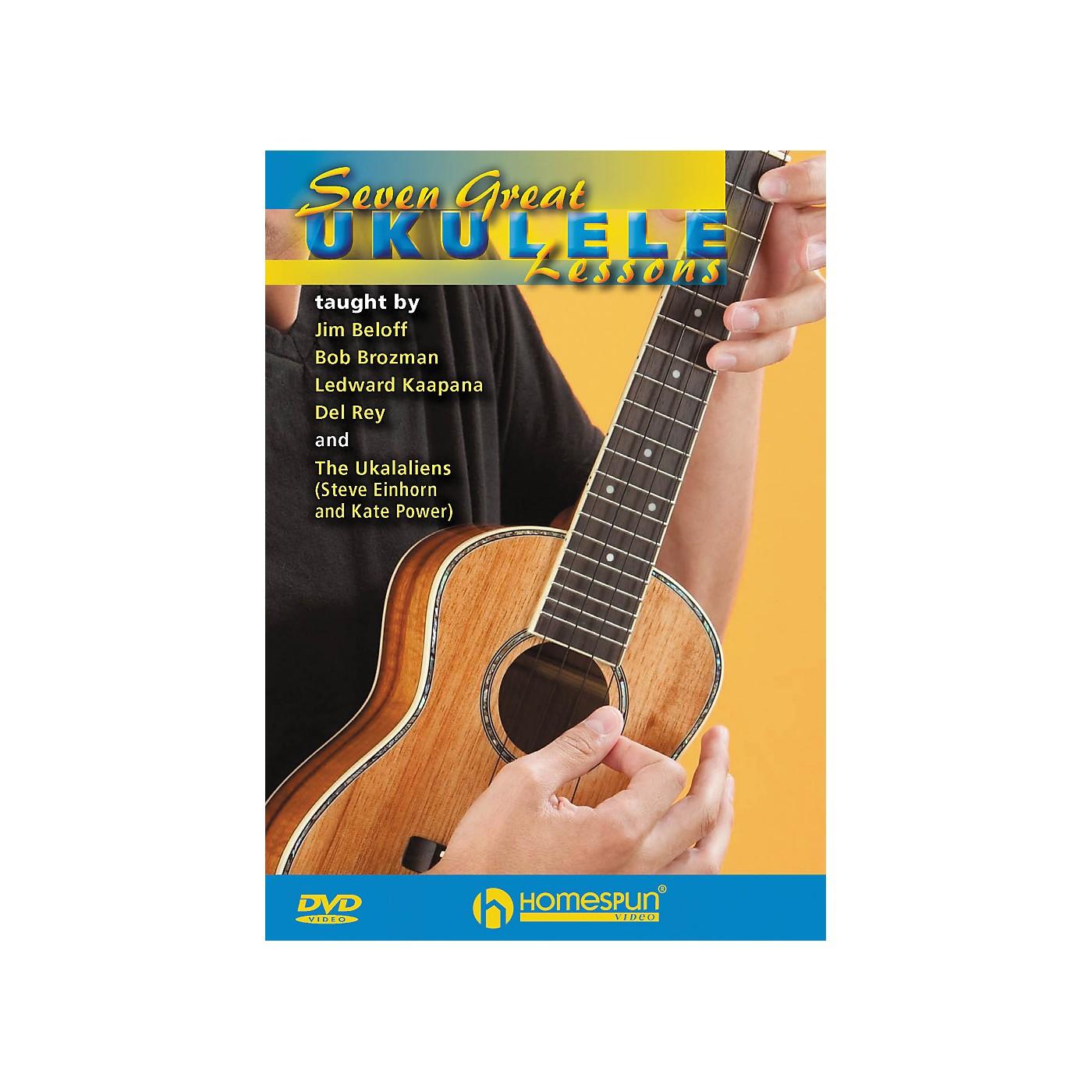 Homespun Seven Great Ukulele Lessons DVD thumbnail